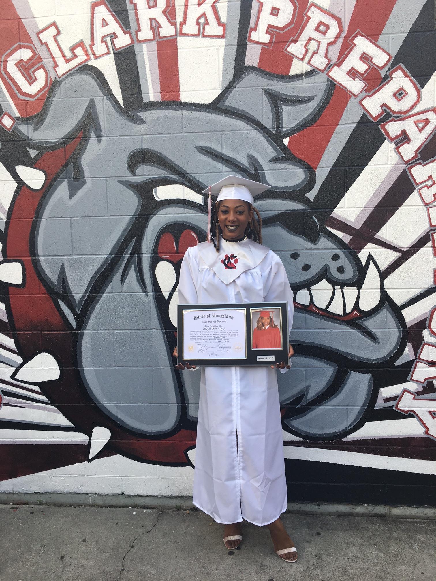 Ms. Allayah Dukes, Clark Summer Graduate