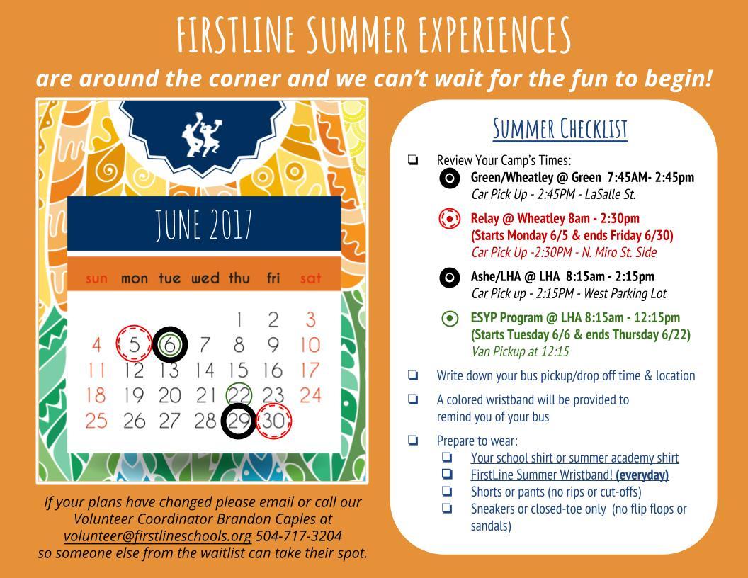 Summer School Checklist & Reminder (1)