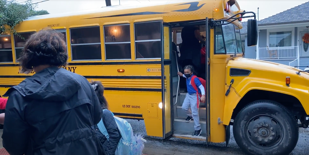 Ashe-Student-Exiting-Bus